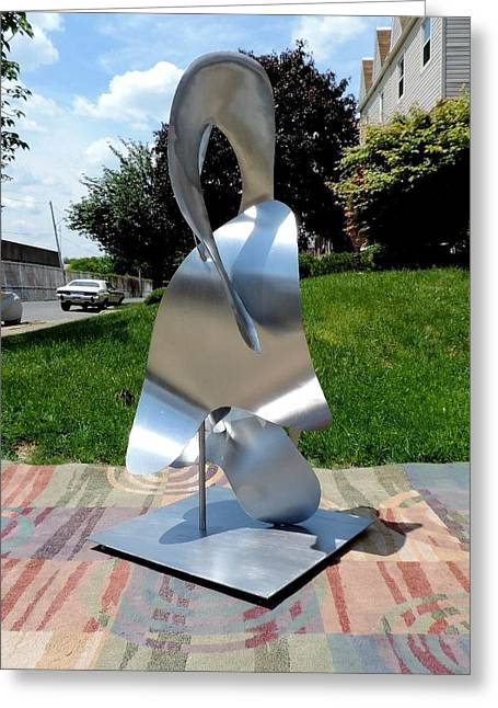 Stainless Sculptures Greeting Cards - Guiding Flame Greeting Card by Garry Zayon