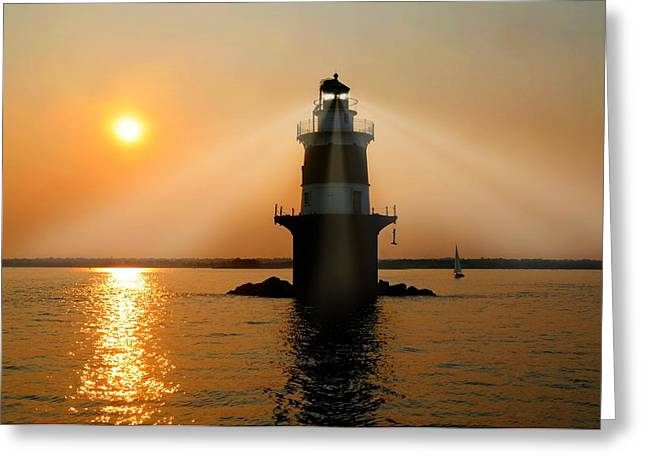 Ledge Photographs Greeting Cards - Guiding Light Greeting Card by Diana Angstadt