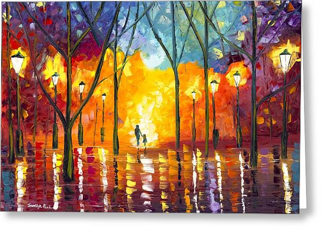 Jessilyn Park Greeting Cards - Guiding Light Greeting Card by Jessilyn Park