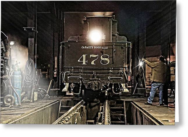 Caboose Greeting Cards - Guiding Light Greeting Card by Ken Smith