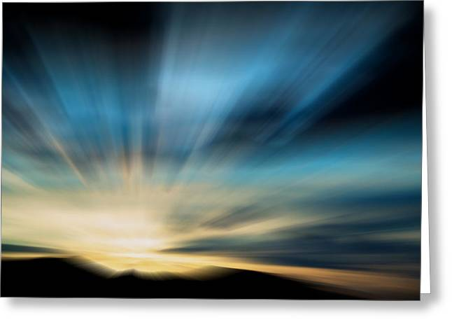 Montana Posters Greeting Cards - Guiding Light  Greeting Card by Kevin Bone