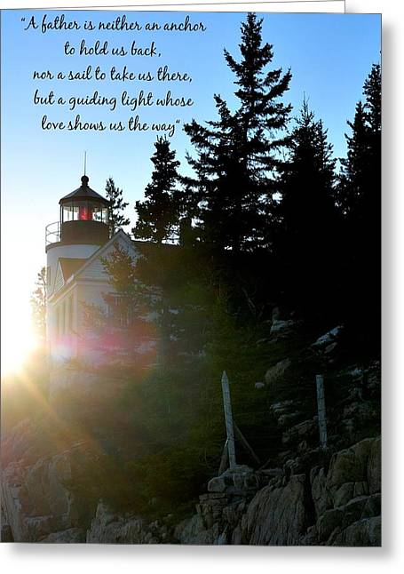 Bass Head Lighthouse Greeting Cards - Guiding Light Greeting Card by Terry DeLuco
