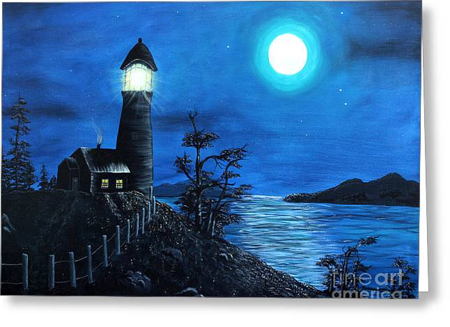 Guiding Lights Greeting Card by Barbara Griffin