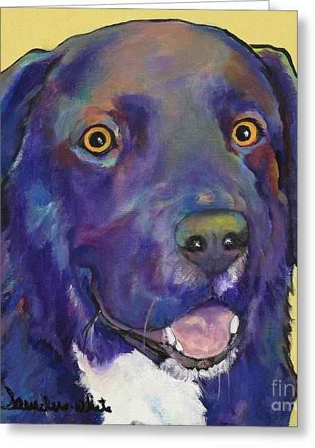 Lab Mix Greeting Cards - Guido Greeting Card by Pat Saunders-White