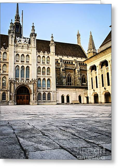 Complex Greeting Cards - Guildhall building and Art Gallery Greeting Card by Elena Elisseeva