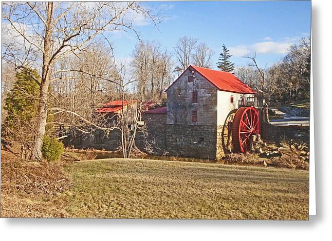 Grist Mill Greeting Cards - Guilford Mill Greeting Card by Bill Talich