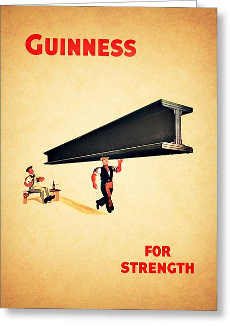 Recipes Greeting Cards - Guiness For Strength Greeting Card by Mark Rogan