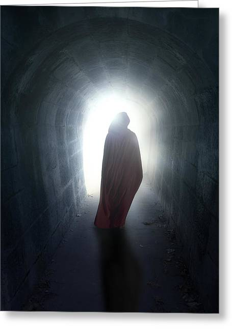 Ghostly Greeting Cards - Guise In Tunnel Greeting Card by Joana Kruse