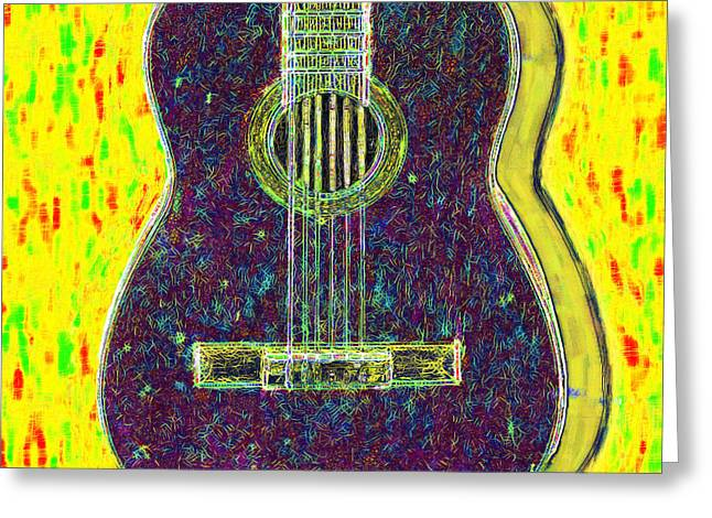 Punk Rock Music Greeting Cards - Guitar - 20130123v3 Greeting Card by Wingsdomain Art and Photography