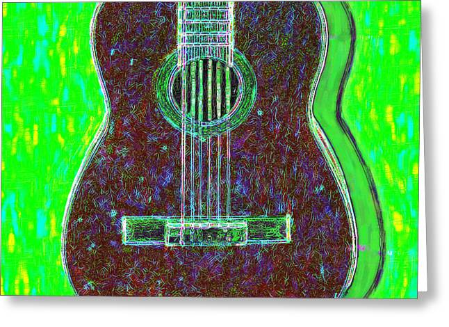 Punk Rock Music Greeting Cards - Guitar - 20130123v4 Greeting Card by Wingsdomain Art and Photography