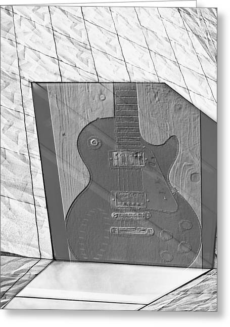 Taylor Guitar Greeting Cards - Guitar and Lines Greeting Card by Susan Stone