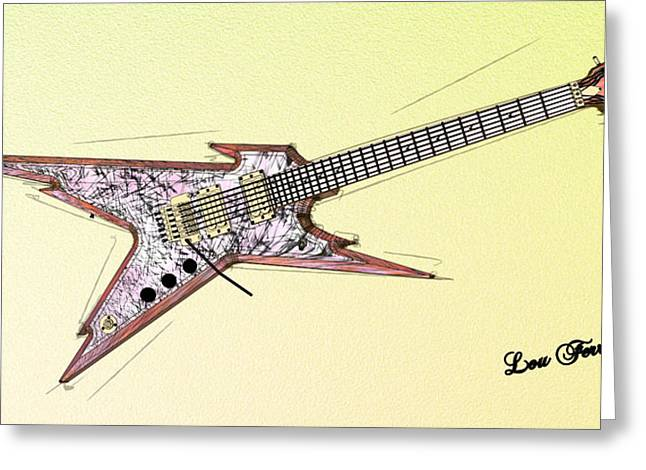 Guitar Pictures Greeting Cards - Guitar  Greeting Card by Louis Ferreira