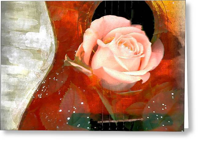 Frizzell Greeting Cards - Guitar Love Greeting Card by Michelle Frizzell-Thompson