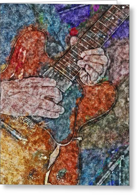 """fret Board"" Greeting Cards - Guitar Lullaby HP Greeting Card by David Lange"