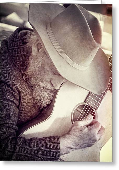 Guitar Man Greeting Card by Steven Bateson