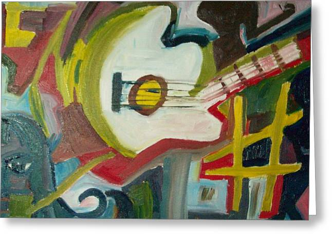 Guitar Muse In C Sharp Greeting Card by James Christiansen