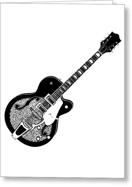 Penny Ovenden Greeting Cards - Guitar Greeting Card by Penny Ovenden