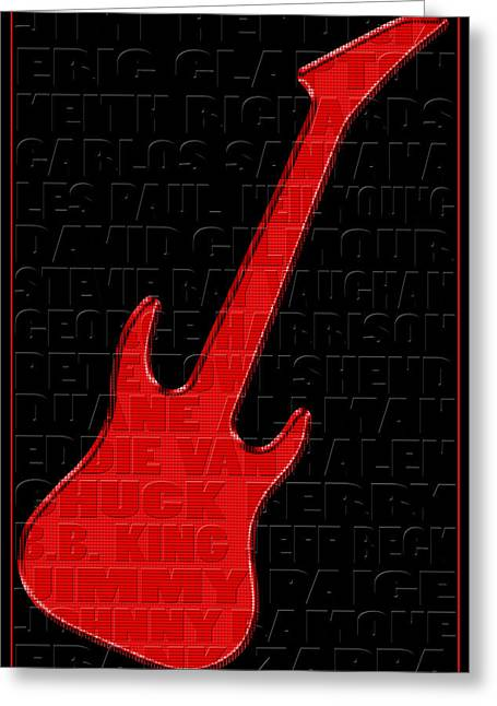 Neil Young Greeting Cards - Guitar Players 1 Greeting Card by Andrew Fare