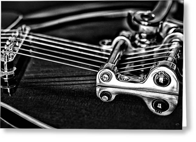 Guitar Reflection Greeting Card by Karol Livote