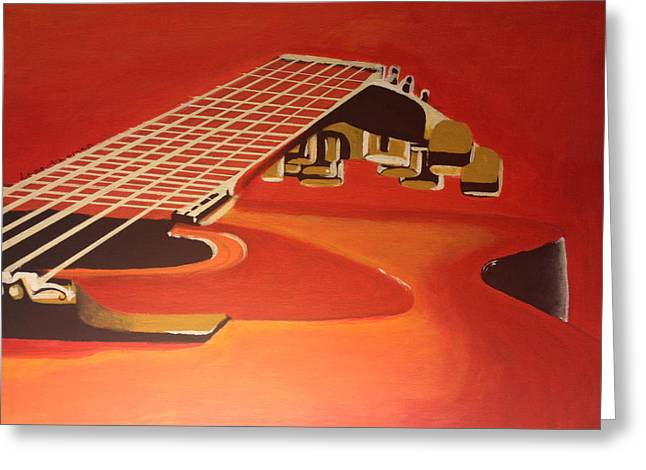 Guitar Stings Greeting Cards - Guitar Scape Greeting Card by Dana Thomas