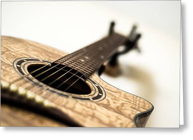 Noise . Sounds Photographs Greeting Cards - Guitar Greeting Card by Shelby  Young