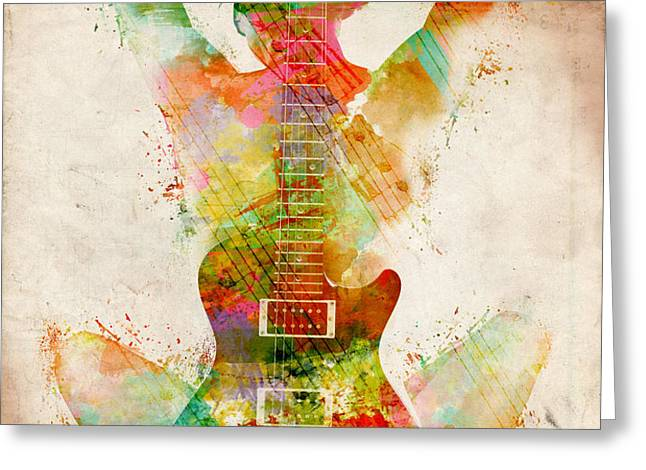 Guitar Siren Greeting Card by Nikki Smith