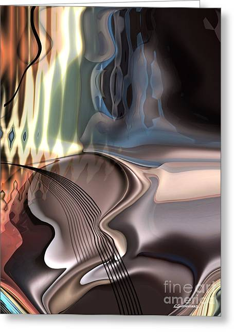 Sounds Digital Art Greeting Cards - Guitar sound Greeting Card by Christian Simonian