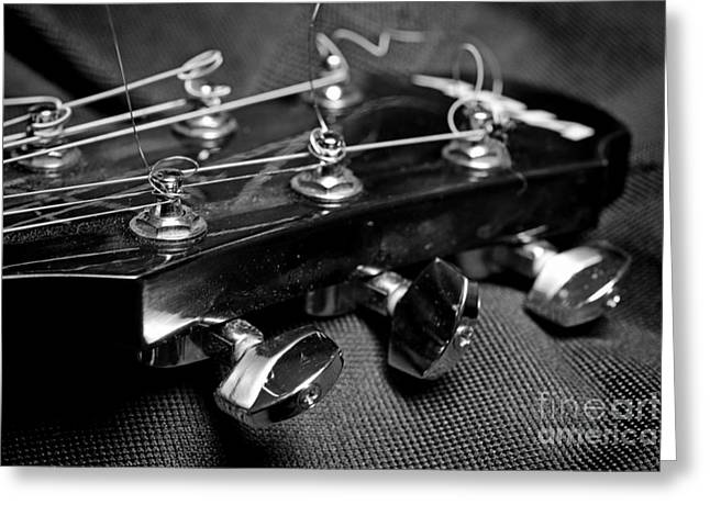 """six String"" Greeting Cards - Guitar Tuning Keys Greeting Card by Paul Ward"