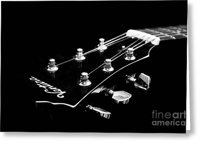 Guitar Stings Greeting Cards - Guitar Ventura Head Stock 1 Greeting Card by Andee Design