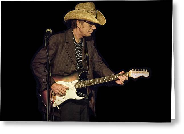 Music Time Greeting Cards - Guitarist Bo Ramsey Greeting Card by Randall Nyhof