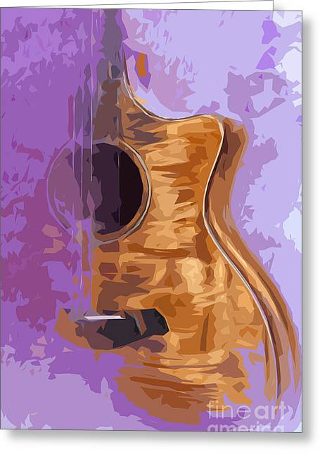 Guitarra Greeting Cards - Guitarra acustica 1 Greeting Card by Pablo Franchi