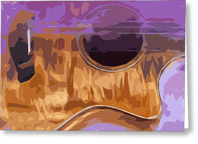 Guitarra Greeting Cards - Guitarra acustica 2 Greeting Card by Pablo Franchi