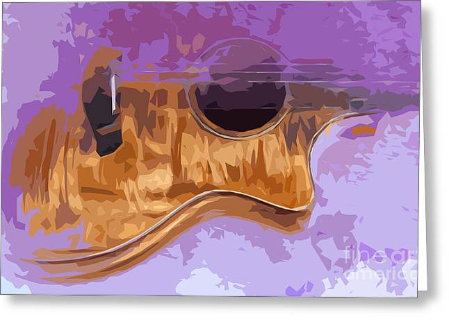 Guitarra Greeting Cards - Guitarra acustica 3 Greeting Card by Pablo Franchi