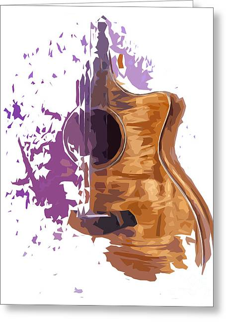 Guitarra Greeting Cards - Guitarra acustica 4 Greeting Card by Pablo Franchi