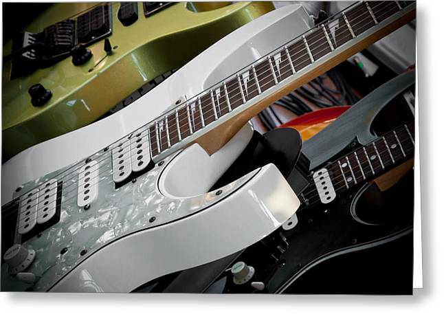 Guitars for Play Greeting Card by David Patterson