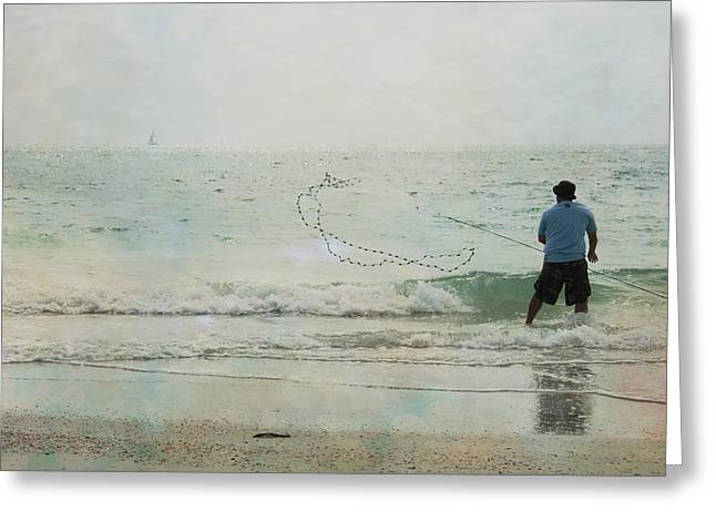 Moment Of Life Greeting Cards - Gulf Fishing Greeting Card by Nomad Art And  Design