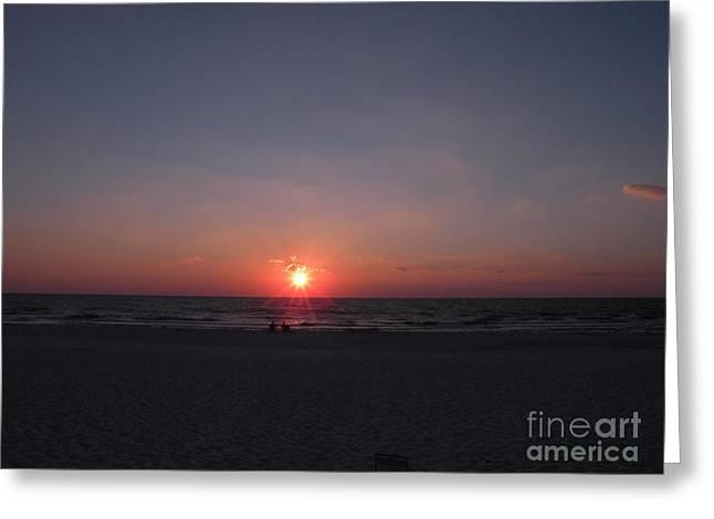 Port St Joseph Greeting Cards - Gulf of Mexico Sunset Port St Joseph Peninsula Greeting Card by Lora Duguay