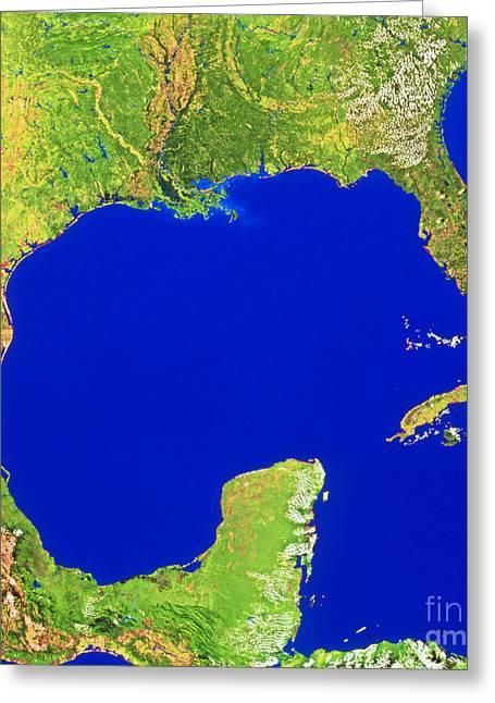 Gulf Of Mexico Greeting Card by WorldSat International Inc