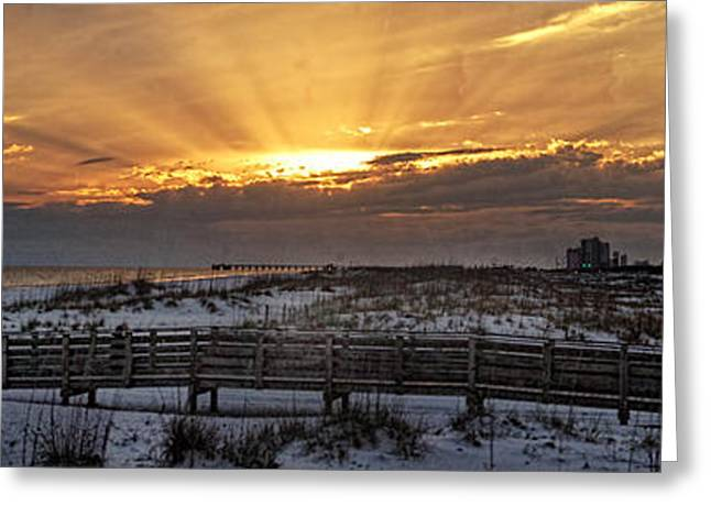 Gulf Shores From Pavilion Greeting Card by Michael Thomas