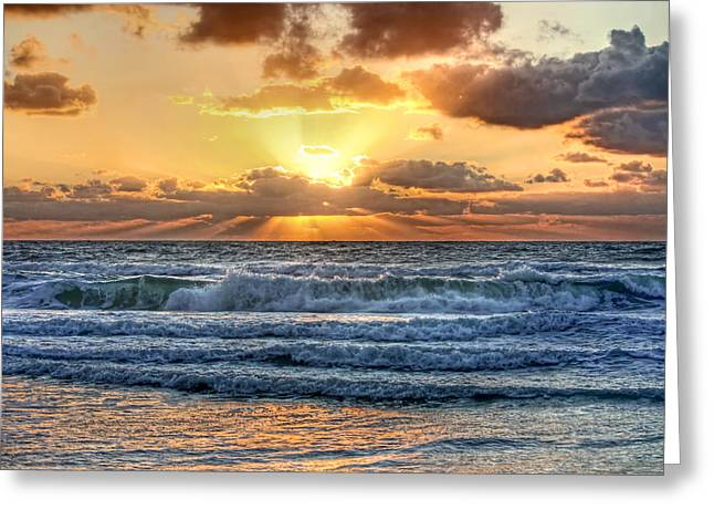 Ocean Art Photography Greeting Cards - Gulf Waters Greeting Card by HH Photography
