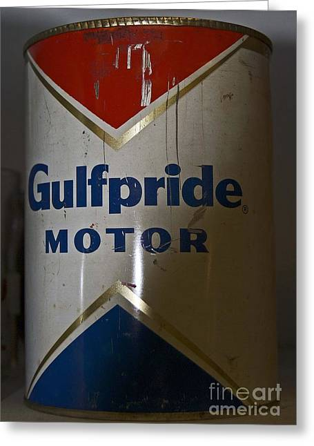 Car Part Greeting Cards - Gulfpride Greeting Card by Skip Willits