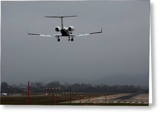 John Daly Greeting Cards - Gulfstream Approach Greeting Card by John Daly