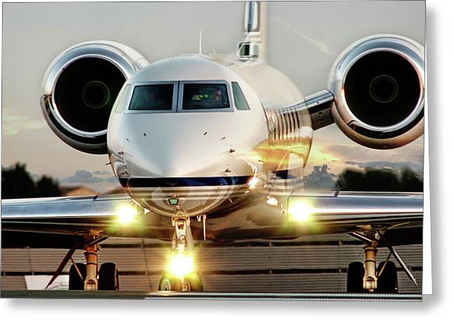 David Greeting Cards - Gulfstream G550 Greeting Card by James David Phenicie