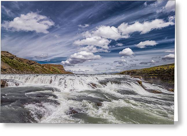 Carefree Greeting Cards - Gullfoss Waterfalls, Iceland Greeting Card by Panoramic Images