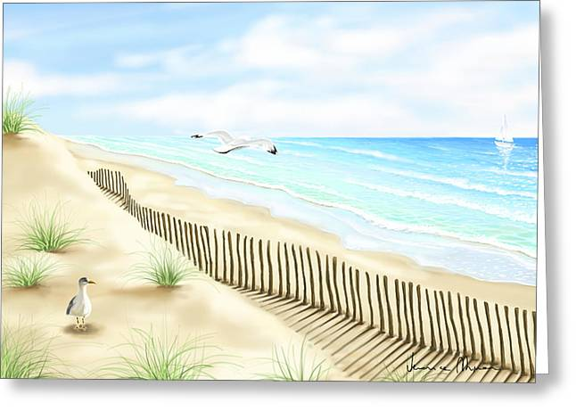 Gull Seagull Greeting Cards - Gulls Greeting Card by Veronica Minozzi