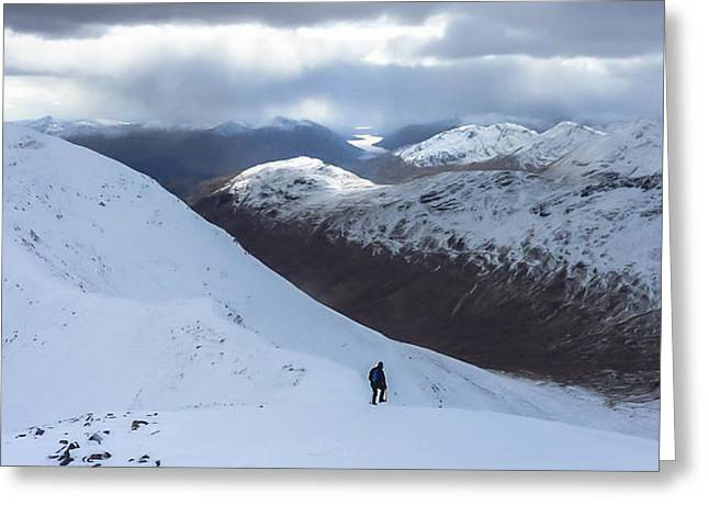 Snow Cornice Greeting Cards - Gulvain - West Highlands Greeting Card by Anatole Beams