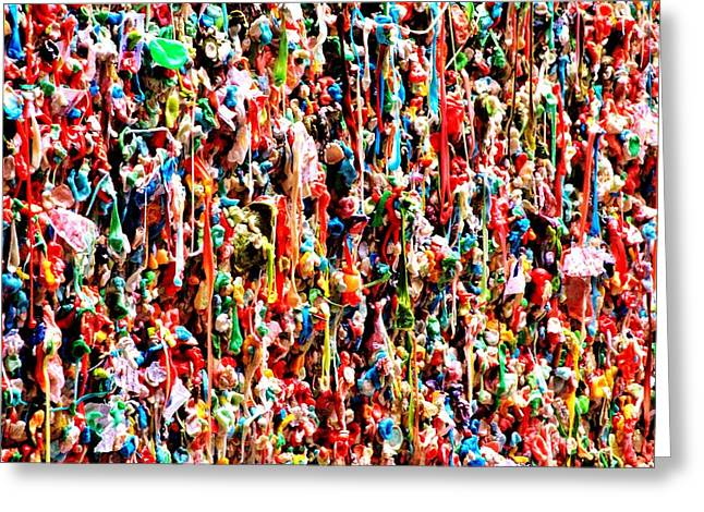 Seattle Landmarks Greeting Cards - Gum Abstract Greeting Card by Benjamin Yeager