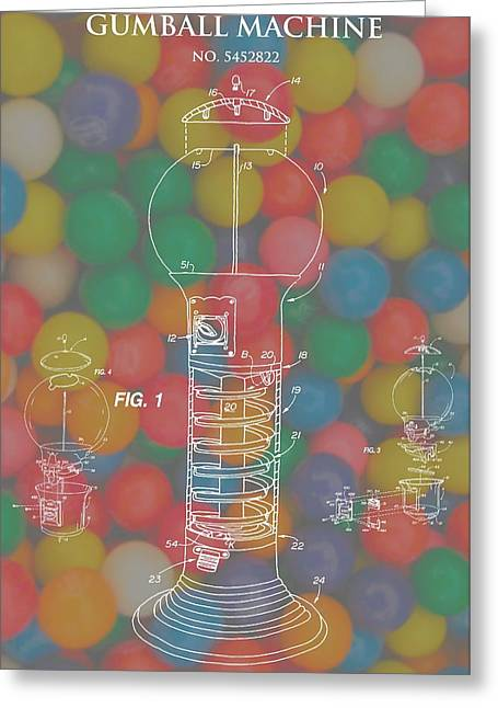 Toy Store Greeting Cards - Gumball Machine Greeting Card by Dan Sproul