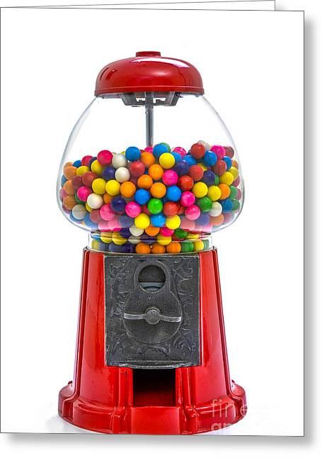 Vending Machine Photographs Greeting Cards - Gumball Machine Greeting Card by Diane Diederich