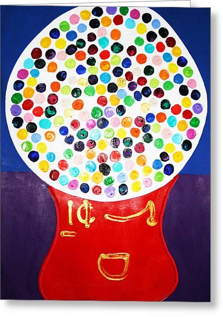 Gumball Machine Greeting Card by Matthew Brzostoski